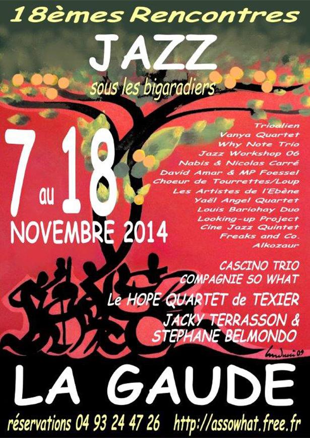 Affiche jazz La Gaude Bigaradiers V Internet