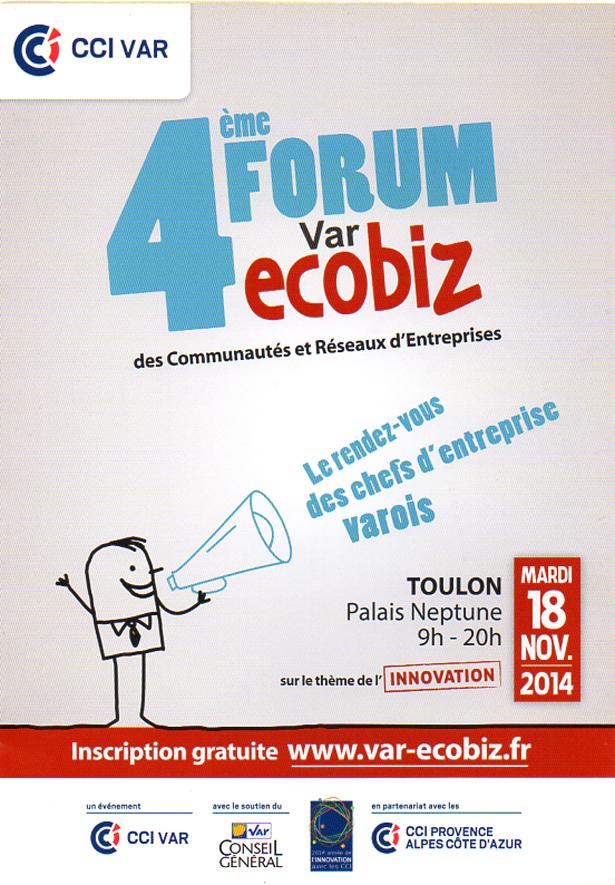 Toulon palais neptune 4 me forum var ecobiz organis par for Chambre de commerce du var