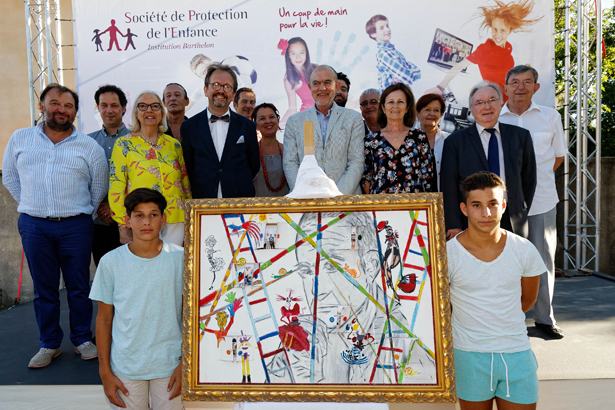 Toulon, le 19/6/2015   Photographie Dominique Leriche   Christian Lacroix parrain de la fondation Barthelon